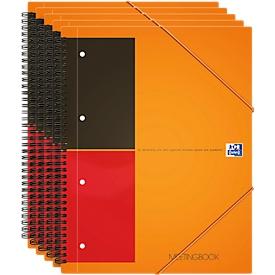 Oxford International Notizbuch, DIN A4, kariert, 5 Stück
