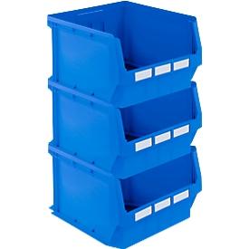 Pack ahorro caja con abertura frontal LF 543, polipropileno, An 500 x P 470 x Al 300mm, 57l, azul, 3 uds.