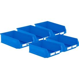 Pack ahorro cajas con abertura frontal SSI Schäfer LF 531, polipropileno, An 500 x P 312 x Al 145mm, 16,5l, azul, 5 uds.