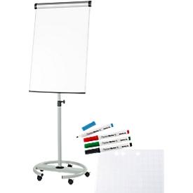 Pack de ahorro de rotafolio Maul Solid, móvil, ajustable en altura + 1 bloc y 4 lápices gratis