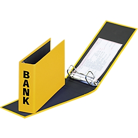 PAGNA Bankordner, PP Karton, Rückenbreite 52 mm,  DIN A5 quer, gelb