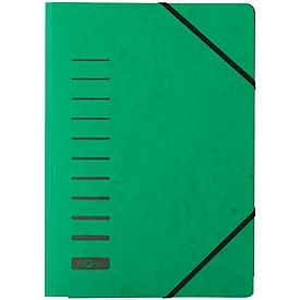 PAGNA Eckspannmappe, DIN A4, 3 Einschlagklappen, 25 Stück, grün