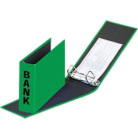 PAGNA ordner voor bankafschriften, PP karton, rugbreedte 52 mm,  A5 liggend, groen