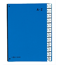 PAGNA Pultordner Color A - Z, auch für Überformate, Polypropylen,  blau