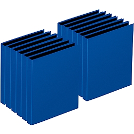PAGNA Ringbuch, 2er-Mechanik, DIN A4, Rückenbreite 35 mm, 12 Stück, blau