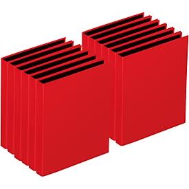 PAGNA Ringbuch, 4er-Mechanik, DIN A4, Rückenbreite 35 mm, 12 Stück, rot