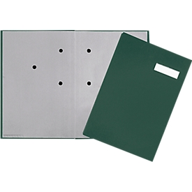 PAGNA vloeiboek, 20 waaiers, karton/linnen stoffering, groen