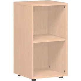 PALENQUE boekenkast, 2 OH, spaanplaat, B 400 x D 400 x H 752 mm, beukendecor
