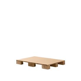 Palet de cartón alveolar, variante palet de cuatro entradas + pata alveolar, L 1200 x An 800mm, hasta 1000kg, con acceso inferior y reciclable
