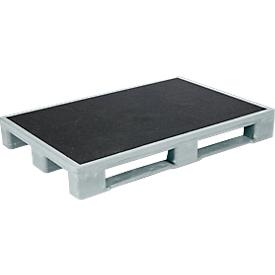Palets higiénicos para carga pesada, 1200 x 800 x 150mm, 5 unidades