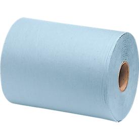 Paño WYPALL* L-30 ULTRA + rollo grande, de material Airflex, 750 hojas, 3 capas, azul