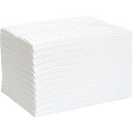 Paños de fieltro aglutinante para aceite First L, absorción 139 l, sin perforación, L 500 x An 400mm, blanco, 200 unidades