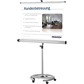 Pantalla con soporte móvil Franken Pro, 1500 x 1500mm