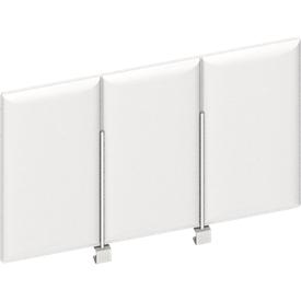 Pantalla de privacidad superior, blanca, W 600 mm