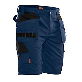Pantalones cortos Jobman 2722 PRACTICAL, con bolsillos tipo funda, protección UV, azul oscuro I negro, talla 48