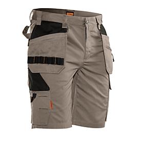 Pantalones cortos Jobman 2722 PRACTICAS, con bolsillos de funda, protección UV, caqui I negro, talla 56