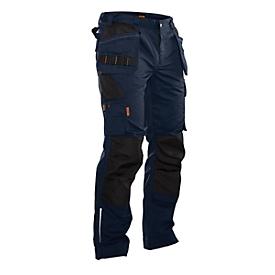 Pantalones de trabajo Jobman 2322 PRACTICAL, con rodilleras y bolsillos tipo funda, azul oscuro I negro, talla 50