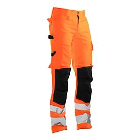 Pantalones Jobman 2378 PRACTICAL, alta visibilidad, EN ISO 20471 clase 2, naranja I negro, 48
