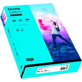 Papel de copia de color tecno colores, DIN A4, 160 g/m², azul, 1 paquete = 250 hojas