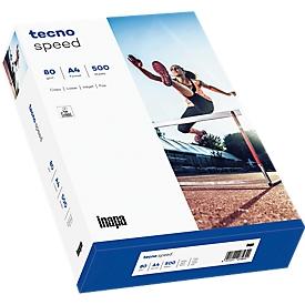 Papel de copia tecno speed, DIN A4, 80 g/m², blanco, 1 cartón = 10 x 500 hojas