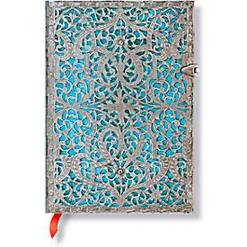 Paperblanks Notizbuch Maya Blau Midi lin