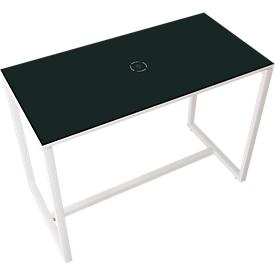 Paperflow Stehtisch Easy Desk, aus Metall, mit Bodenausgleichsschrauben, H 1100 mm, desinfektionsmittelbeständig, anthrazit/weiß