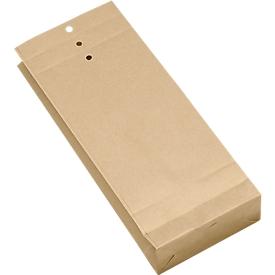 Papieren zakjes, bruin, 245 x 100 x 40 mm