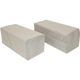Papierhandtücher SCHÄFER SHOP Zick-Zack-Falzung, 1-lagig, L 250 x B 230 mm, reißfest, 5000 Blatt, natur