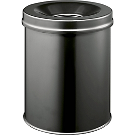 Papierkorb Safe, schwarz