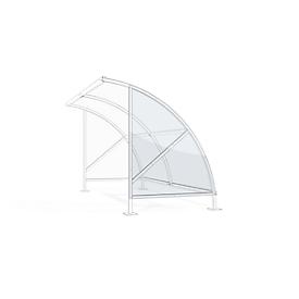 Pared lateral para el sistema de refugio exterior Bamberg modelo transparente W 2040/4080 mm, derecha, policarbonato
