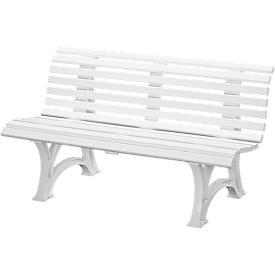 Parkbank, 3-Sitzer, L 1500 mm, weiß