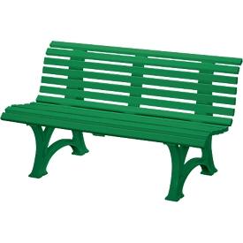 Parkbank, 3-zitter, L 1500 mm, groen