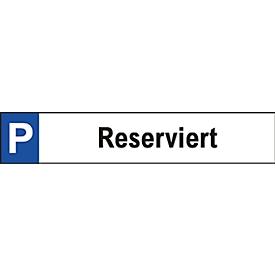 Parkeerbord, Gereserveerd