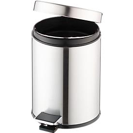 Pedaalemmer, 3 liter, Ø 200 x H 280 mm, rvs