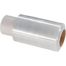 Película retráctil empaquetado/minipelícula retráctil, grosor de la película 10 mic, transparente, anchura 100mm, transparente