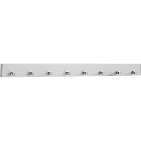 Perchero de pared de aluminio, anchura 800mm