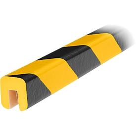 Perfil de protección de cantos tipo G, pieza de 1m, amarillo/negro