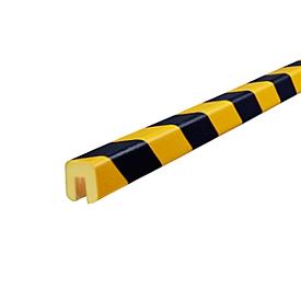 Perfil de protección de cantos tipo G, por m lineal, amarillo/negro