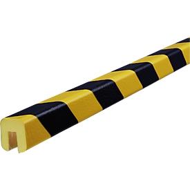 Perfil de protección de cantos tipo G, rollo de 5m, amarillo/negro