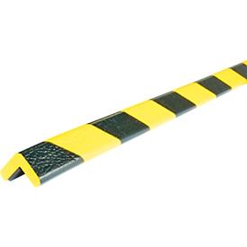 Perfil de protección para esquinas tipo E, pieza de 1m, amarillo/negro, fluorescente de día