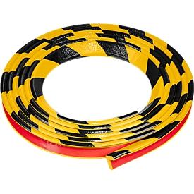 Perfil de protección para esquinas tipo E, rollo de 5m, amarillo/negro