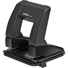 Perforator Rapid Supreme Press Less SP20, 2-voudige perforatie 80 mm, voor 20 vellen, ergonomisch, zwart