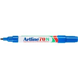 Permanent marker Artline 70, ronde punt, blauw, 12 stuks