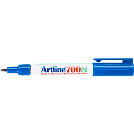 Permanent marker Artline 700, ronde punt, blauw, 12 stuks