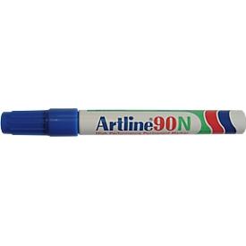 Permanent marker Artline 90, blauw, beitelvormige punt, 12 stuks