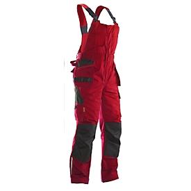 Peto Jobman 3730 PRACTICAL, con bolsillos para rodilleras y bolsillos para fundas, rojo I negro, talla 54