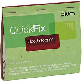 Pflasterstrips QuickFix Blood Stopper, Nachfüllpack f. Spender, m. Alginatfasern, 6 x 45 St.