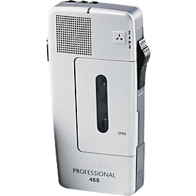 PHILIPS mini-dicteerapparaat met cassettes Pocket Memo 488