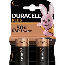 Pilas DURACELL® Plus, baby C 1,5V, 2 unidades