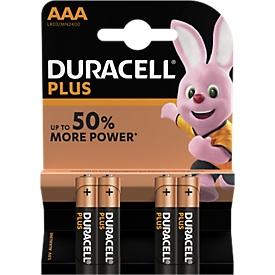 Pilas DURACELL® Plus, micro AAA, 1,5 V, 4 unidades